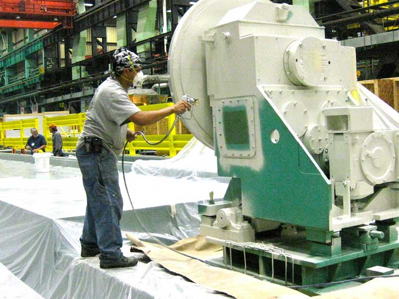 Machine cleaning and painting callaway industrial services for Industrial painting service