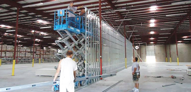 Commercial and Industrial Partition Wall Installation and Removal Services
