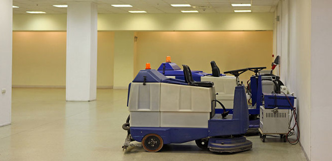 Riding Industrial Floor Scrubbers and Sweepers Cleaning Services